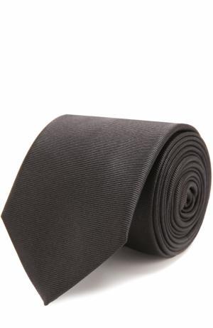 Шелковый галстук Dal Lago. Цвет: чёрный