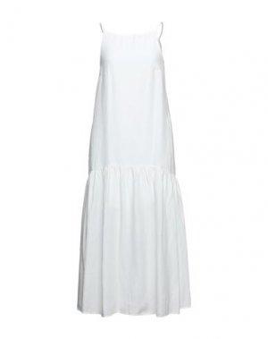 Платье миди CARACTÈRE. Цвет: белый