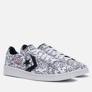 Кеды x Keith Haring Pro Leather Low Converse. Цвет: белый
