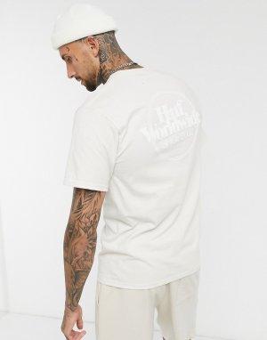Кремовая футболка с логотипом Issues-Кремовый HUF