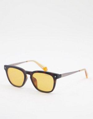 Квадратные солнцезащитные очки -Оранжевый цвет Polaroid