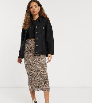 Джинсовая куртка в стиле oversized черного цвета ASOS DESIGN Petite-Черный Petite
