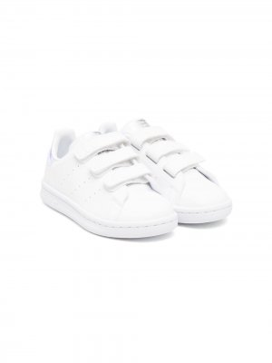 Stan Smith touch-strap sneakers adidas Kids. Цвет: белый