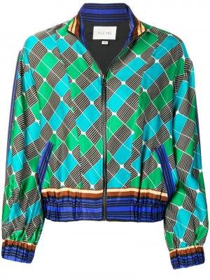 Куртка-бомбер Jabari Alexis. Цвет: зеленый