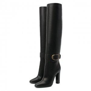 Кожаные ботфорты Caroline Dolce & Gabbana. Цвет: чёрный