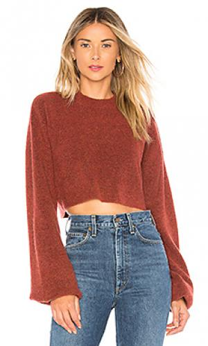 Пуловер liam Chrissy Teigen. Цвет: ржавый