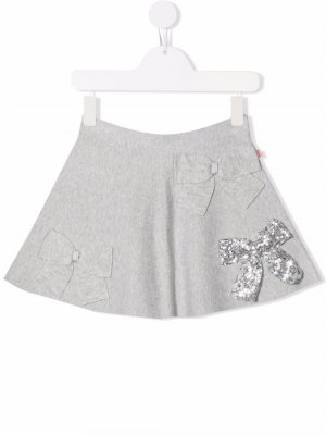 Мини-юбка с бантом Billieblush. Цвет: серый