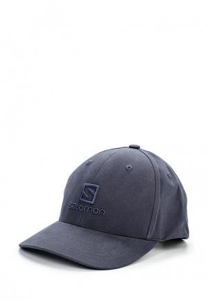 Бейсболка Salomon CAP LOGO. Цвет: синий