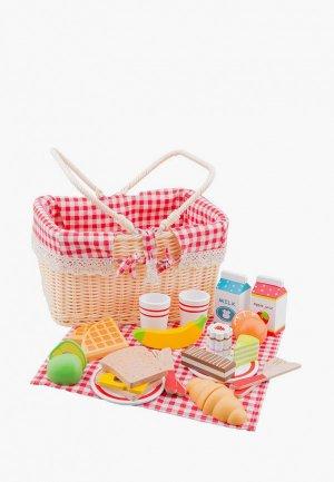 Набор игровой New Classic Toys Корзина с продуктами для пикника. Цвет: разноцветный