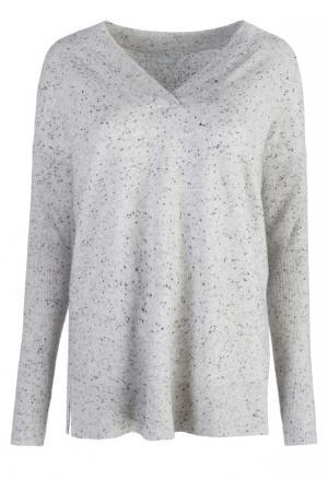 Серый пуловер из кашемира Hugo Boss