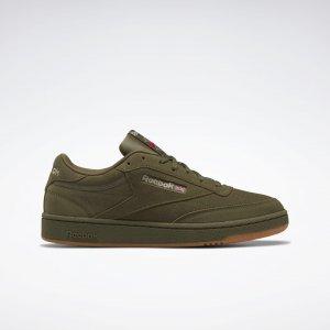 Кеды Club C 85 Reebok. Цвет: army green / modern beige / reebok rubber gum-03