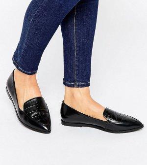 Сандалии с острым носком для широкой стопы ASOS MARTHA DESIGN. Цвет: черный