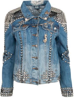 Джинсовая куртка ONE X. Цвет: синий
