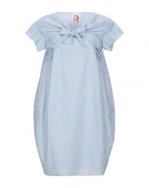 Короткое платье ATINSIGHT by ANDREA TURCHI. Цвет: небесно-голубой