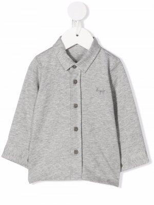 Рубашка поло с вышитым логотипом Il Gufo. Цвет: серый