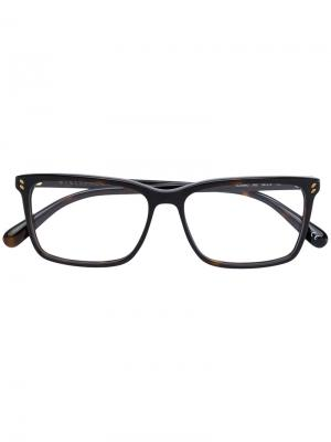 Очки в квадратной оправе Stella Mccartney Eyewear. Цвет: коричневый