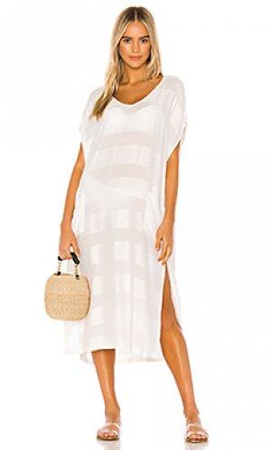 Макси платье TAVIK Swimwear. Цвет: ivory