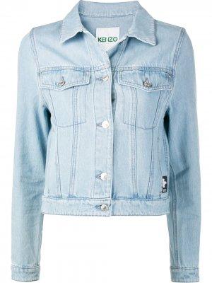 Джинсовая куртка с нашивкой-логотипом Kenzo. Цвет: синий