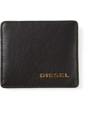 Кошельки и визитницы Diesel. Цвет: чёрный