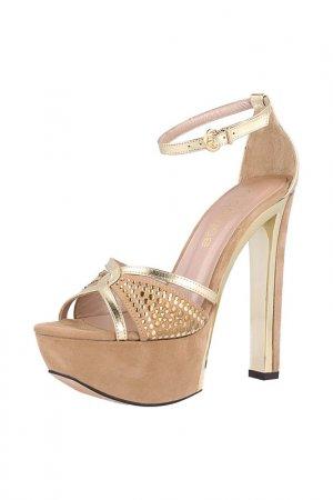 Босоножки EL Dantes. Цвет: gold, beige