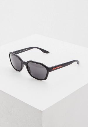 Очки солнцезащитные Prada Linea Rossa 0PS 02VS 1BO5S0. Цвет: черный