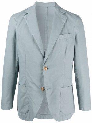 Notched-lapels single-breasted blazer Altea. Цвет: синий