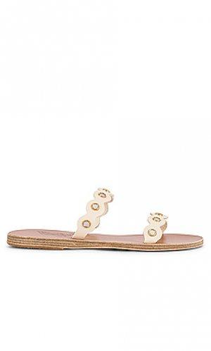 Шлепанцы melia mirrors Ancient Greek Sandals. Цвет: беж