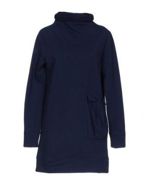Короткое платье BIONEUMA NATURAL FASHION. Цвет: темно-синий