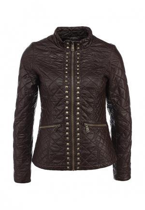 Куртка кожаная Lawine. Цвет: коричневый