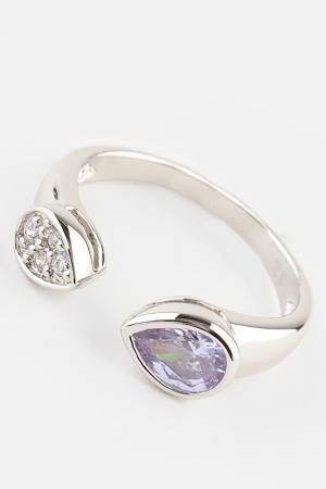 Кольцо Slava Zaitsev. Цвет: серебро, белый, розовый