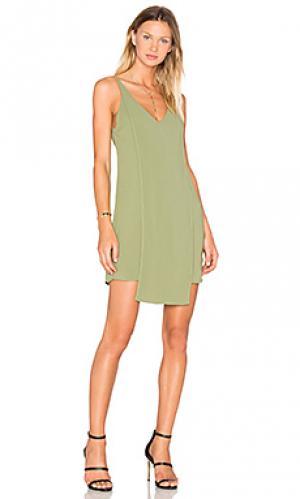 Мини платье about us C/MEO. Цвет: оливковый