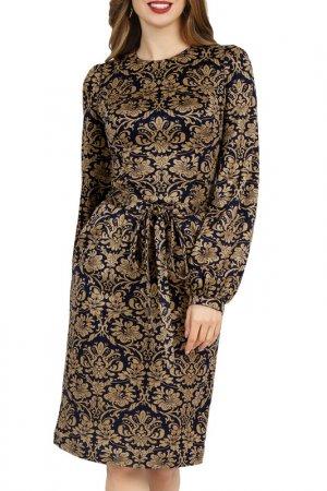 Платье Olivegrey. Цвет: сине-золотой