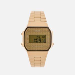 Наручные часы Collection A-168WG-9B CASIO. Цвет: золотой