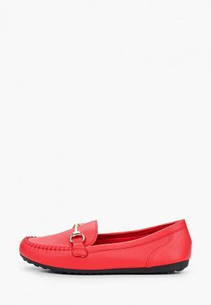 Мокасины Exquily. Цвет: красный
