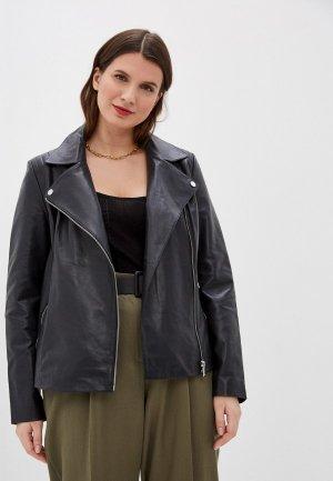 Куртка кожаная Le Monique IPACBL11LS20/1. Цвет: синий