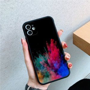 Чехол для телефона с узором пудры SHEIN. Цвет: многоцветный