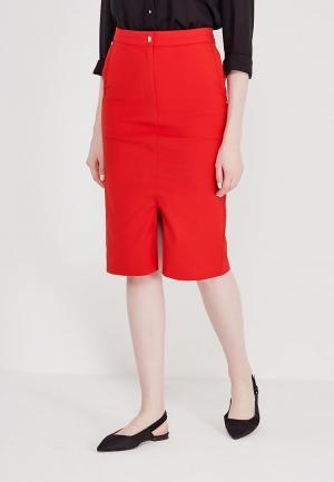 Юбка Marks & Spencer. Цвет: красный