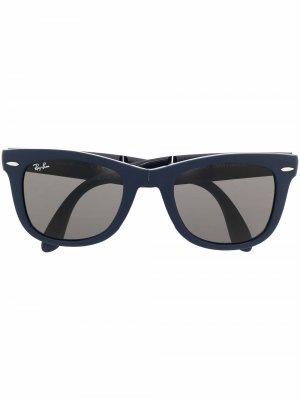 Складные солнцезащитные очки Wayfarer Ray-Ban. Цвет: синий