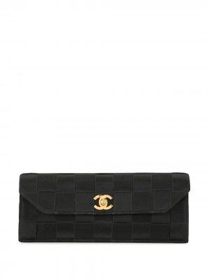 Плетеный клатч Chocolate Bar Chanel Pre-Owned. Цвет: черный