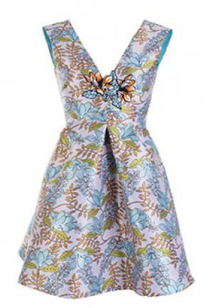 Платье PINKO. Цвет: разноцветный