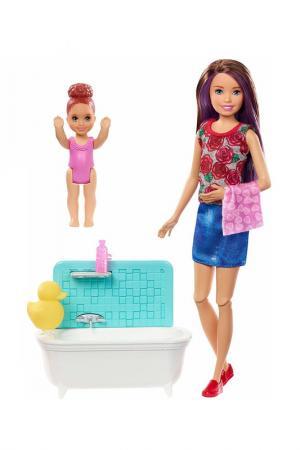 Набор Барби (Ванная) Barbie. Цвет: бежевый