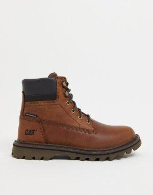 Коричневые непромокаемые ботинки Caterpillar Deplete-Коричневый цвет Cat Footwear