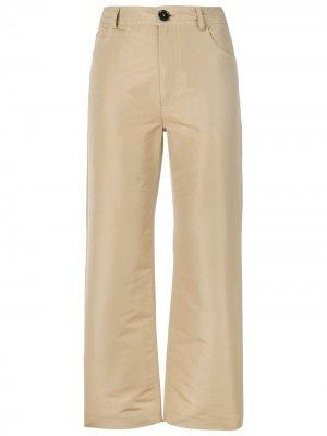 Укороченные брюки чинос Marni. Цвет: нейтральные цвета