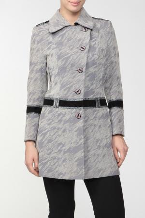 Пальто Амулет. Цвет: серый