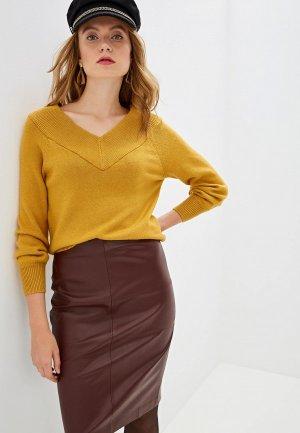 Пуловер Jacqueline de Yong. Цвет: желтый