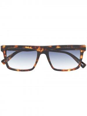 Солнцезащитные очки с эффектом градиента Ermenegildo Zegna. Цвет: коричневый