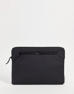 Черный чехол для 13-дюймового ноутбука с застежкой-молнией сверху 1649-Черный цвет Rains