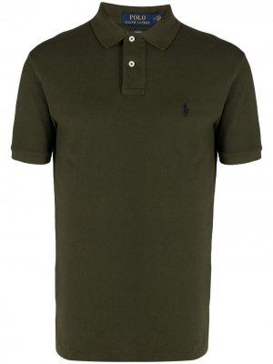 Рубашка поло с вышивкой Polo Ralph Lauren. Цвет: зеленый