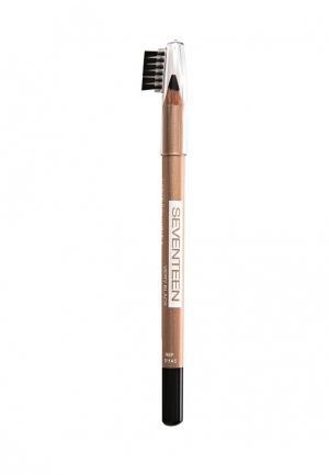 Карандаш для бровей Seventeen с щеточкой, т.04  LONGSTAY EYE BROW SHAPER чёрный. Цвет: коричневый