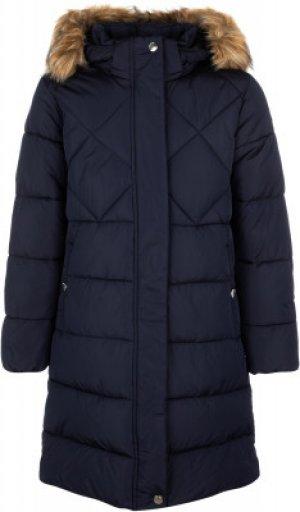 Пальто утепленное для девочек Lempos, размер 158 Luhta. Цвет: синий